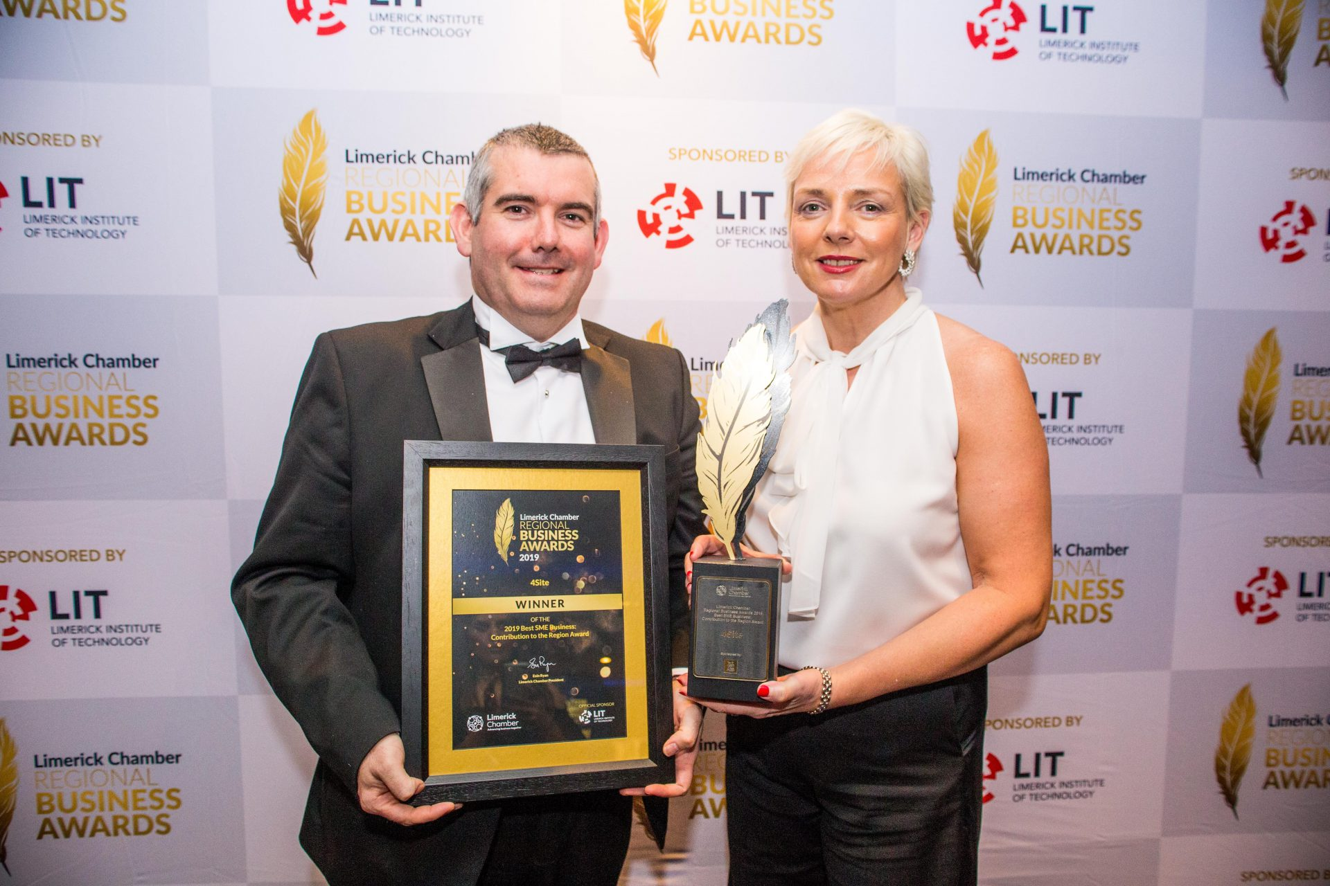 4site win Best SME Business Contribution to the Region from the Limerick chamber of commerce